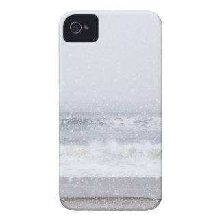 USA, New York State, Rockaway Beach, snow storm iPhone 4 Case