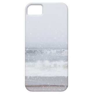 USA, New York State, Rockaway Beach, snow storm iPhone SE/5/5s Case