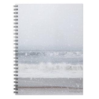 USA, New York State, Rockaway Beach, snow storm Note Books
