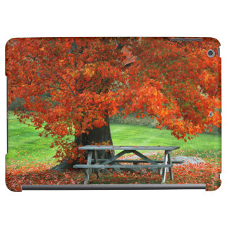 USA, New York, West Park. Bench Under Maple Cover For iPad Air
