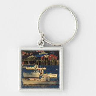 USA, North America, Maine, Bernard, Fishing Keychain