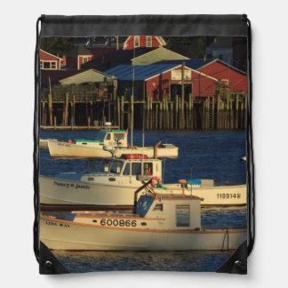 USA, North America, Maine, Bernard, Fishing Drawstring Bag