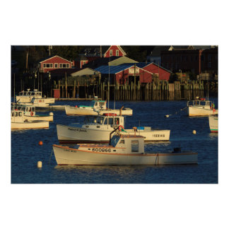 USA, North America, Maine, Bernard, Fishing Poster