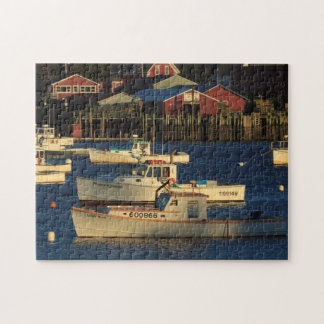 USA, North America, Maine, Bernard, Fishing Puzzle