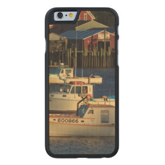 USA, North America, Maine, Bernard, Fishing Carved® Maple iPhone 6 Slim Case