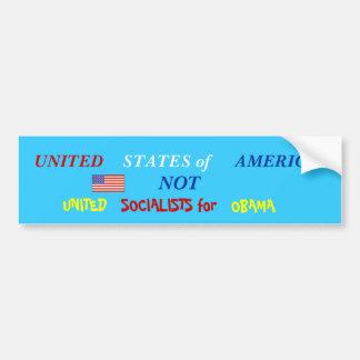 usa not uso bumper sticker