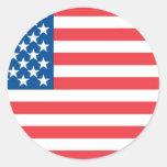 USA Official Flag Classic Round Sticker