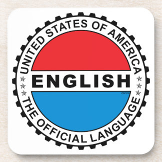 USA Official Language Beverage Coaster