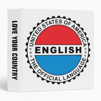 USA Official Language Binder