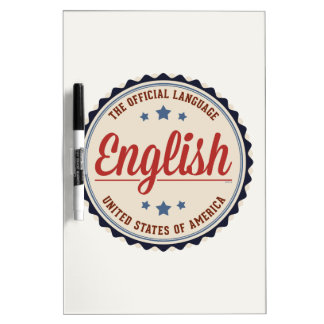 USA Official Language Dry-Erase Board