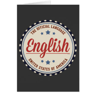 USA Official Language Greeting Card