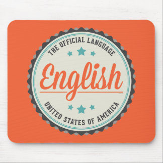USA Official Language Mouse Pad
