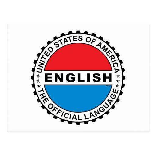 USA Official Language Postcard