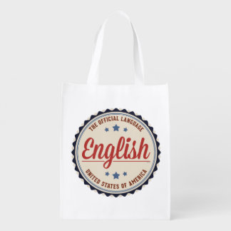 USA Official Language Reusable Grocery Bag