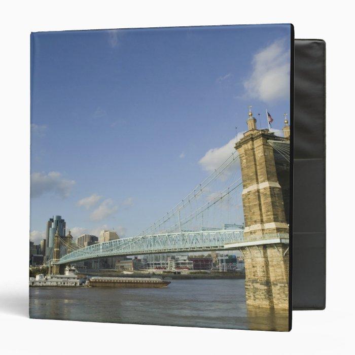 USA, Ohio, Cincinnati: Roebling Suspension 2 3 Ring Binder