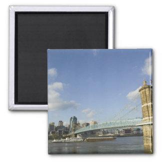 USA, Ohio, Cincinnati: Roebling Suspension 2 Magnet