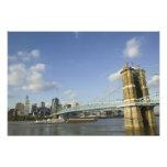 USA, Ohio, Cincinnati: Roebling Suspension 2 Photographic Print