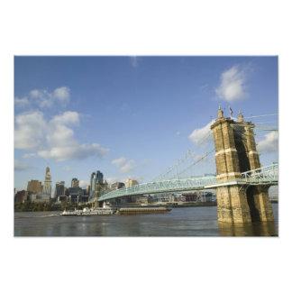 USA Ohio Cincinnati Roebling Suspension 2 Photographic Print