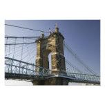 USA, Ohio, Cincinnati: Roebling Suspension 2 Photograph
