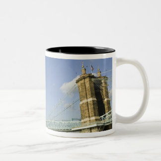USA, Ohio, Cincinnati: Roebling Suspension 2 Two-Tone Coffee Mug
