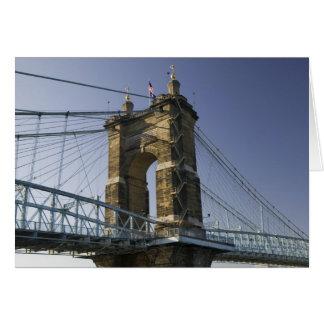 USA, Ohio, Cincinnati: Roebling Suspension 3 Card