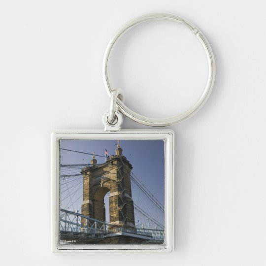 USA, Ohio, Cincinnati: Roebling Suspension 3 Keychain