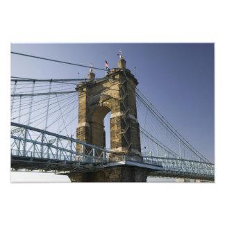 USA Ohio Cincinnati Roebling Suspension 3 Photograph