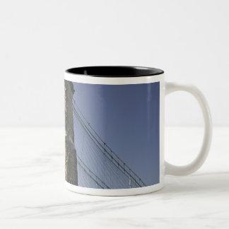 USA, Ohio, Cincinnati: Roebling Suspension 3 Two-Tone Coffee Mug