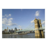 USA, Ohio, Cincinnati: Roebling Suspension Photo Print