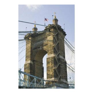 USA Ohio Cincinnati Roebling Suspension Art Photo