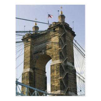USA, Ohio, Cincinnati: Roebling Suspension Postcards