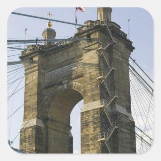 USA, Ohio, Cincinnati: Roebling Suspension Stickers