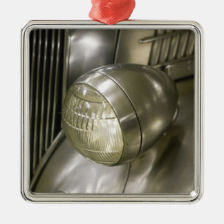 USA, Ohio, Cleveland: Western Reserve Historical 2 Square Metal Christmas Ornament