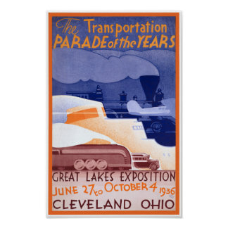 USA Ohio Expo Vintage Poster Restored