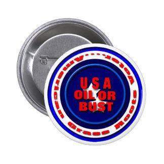 USA Oil Pinback Button