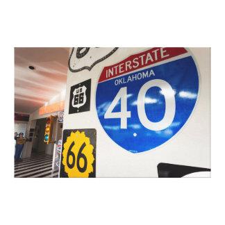 USA, Oklahoma, Clinton, Route 66 Museum Canvas Print