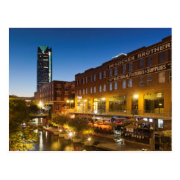 USA, Oklahoma, Oklahoma City, Bricktown Postcard