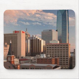 USA, Oklahoma, Oklahoma City, Elevated City Mouse Pads