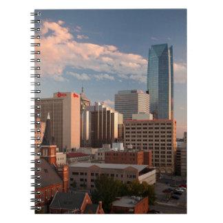 USA, Oklahoma, Oklahoma City, Elevated City Spiral Notebook