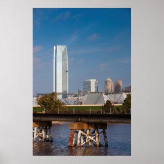 USA, Oklahoma, Oklahoma City, Skyline Poster