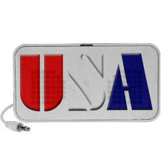 USA on White Background Laptop Speakers