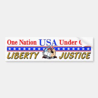 USA - One Nation Under God Car Bumper Sticker