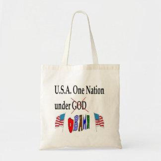 USA One Nation under Obama Tote Bag