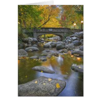 USA, Oregon, Ashland, Lithia Park. Autumn Card