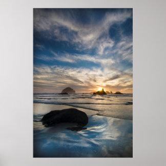 USA, Oregon, Bandon Beach. Face Rock Poster