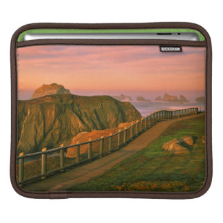 USA, Oregon, Bandon. Rocks Viewed From Trail iPad Sleeve