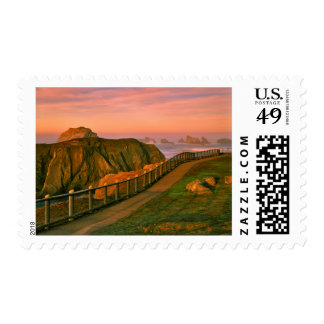 USA, Oregon, Bandon. Rocks Viewed From Trail Postage