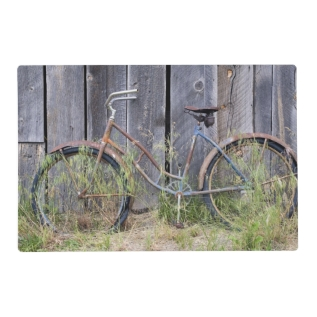 Usa, Oregon, Bend. A Dilapidated Old Bike Placemat at Zazzle