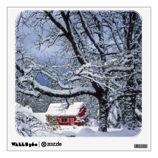 USA, Oregon, Clackamas County. Fresh snow covers Wall Decal