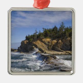 USA, Oregon, coastline Christmas Ornaments